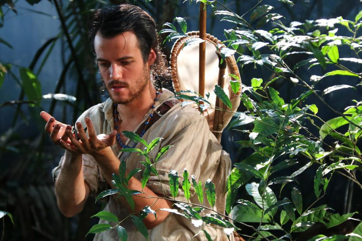 Explorer Henry Bates in the jungle from the movie Amazon Adventure
