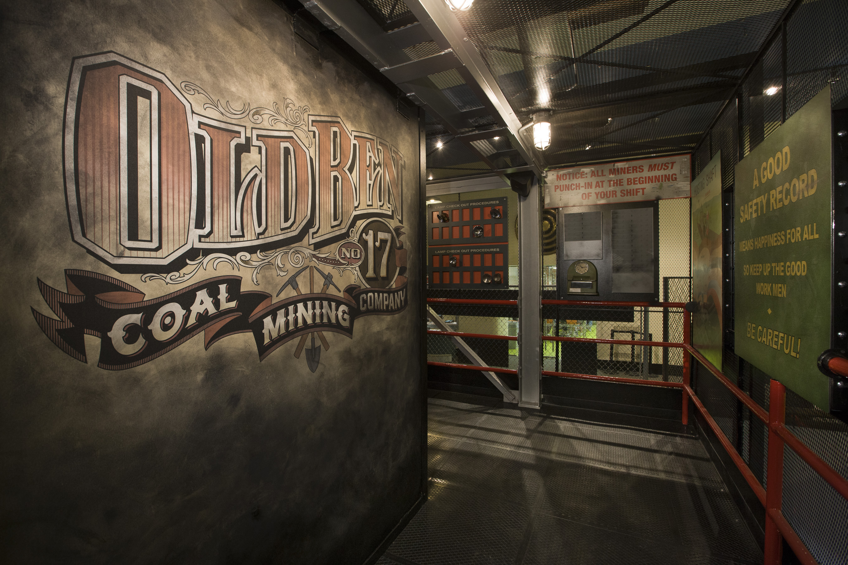 Entrance to Coal Mine exhibit