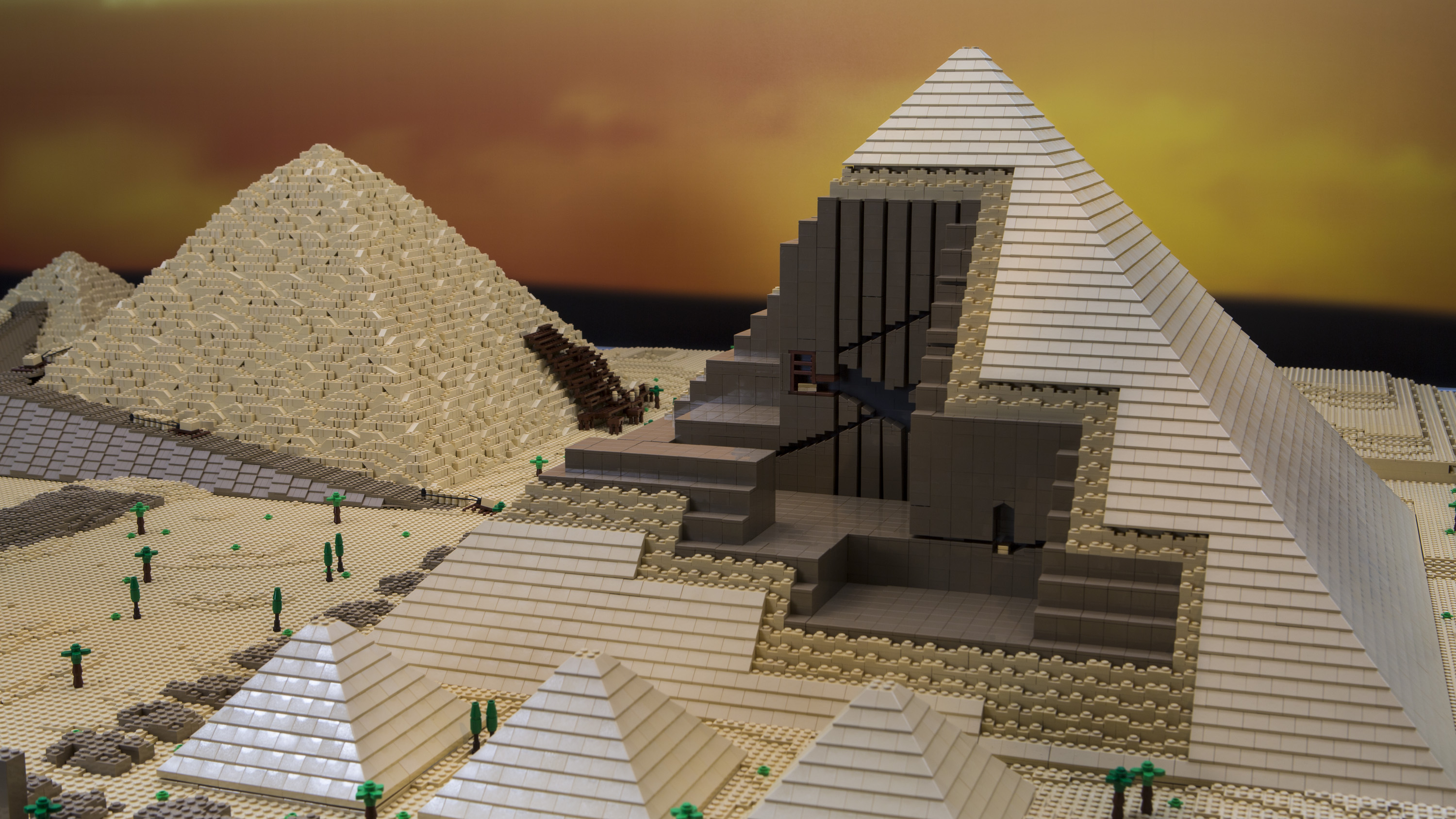 The Great Pyramid of Giza made of LEGO bricks